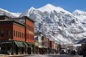Town of Telluride in winter