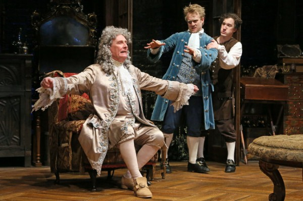 The Heir Apparent From left, Paxton Whitehead, Dave Quay and Carson Elrod in David Ives's adaptation of an 18th-century French comedy at the Classic Stage Company. Credit Ruby Washington/The New York Times
