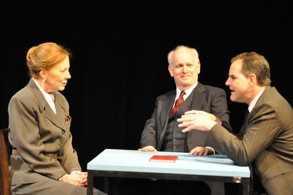 Anne Smith Myers (asMargrethe Bohr), Wes Munsil (Neils Bohr) andMarc Graham (Werner Heisenberg)