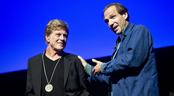 Robert Redford & Ralph Fiennes , by Pamela Gentile