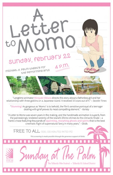 letter to momo-poster