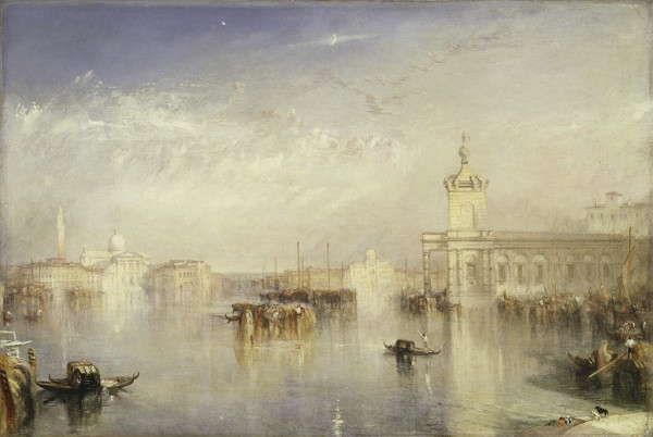 The Dogano, San Giorgio, Citella, from the Steps of the Europa, exhibited 1842, J. M. W. Turner, oil on canvas. Courtesy of Tate: Presented by Robert Vernon 1847. Photo © Tate, London 2014