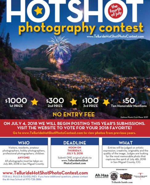 Hot Shot July 4 Photo Contest | Telluride Inside    and Out