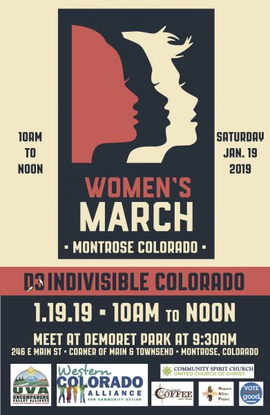 photograph regarding Women's March Printable Signs known as Womens March within just Montrose,1/19 Telluride Within and Out
